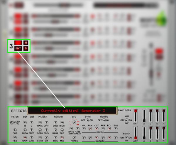 Mixfood Ambi Nature - Edit -> Effects Section