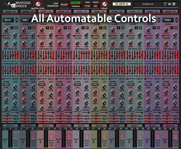 Mixfood Knock- Automatable Controls