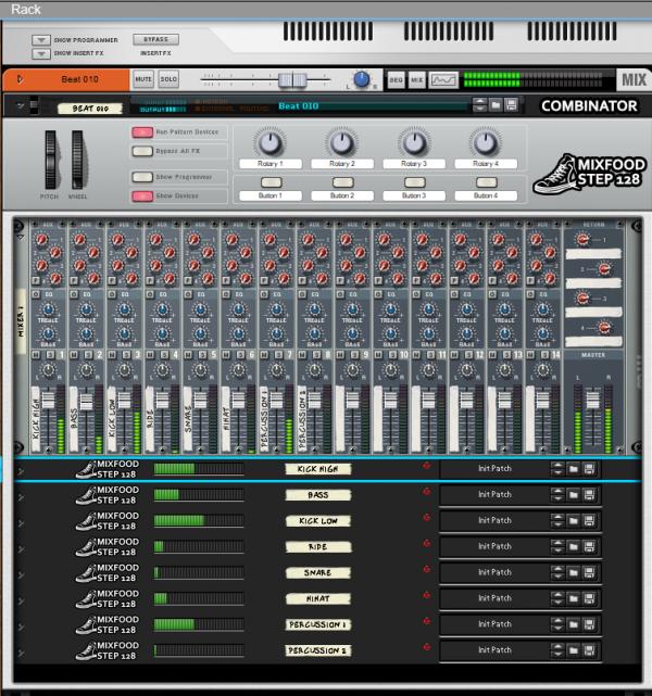 Mixfood Step 128 - Combinator Drum Machine