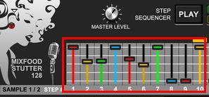 Mixfood Stutter 128 - Set Sliders